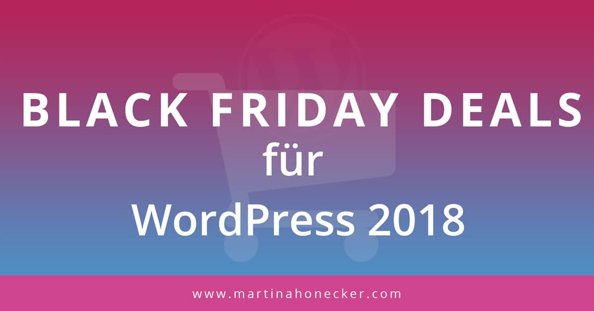 Black Friday Deals für WordPress 2018