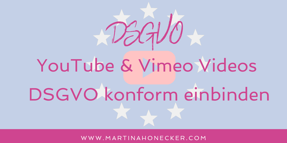 YouTube & Vimeo Videos DSGVO konform einbinden