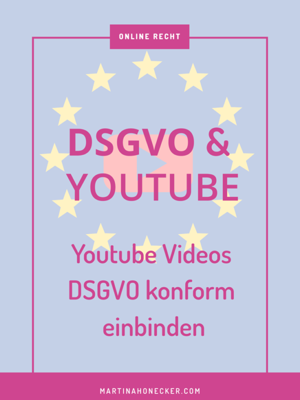 YouTube Videos DSGVO-konform einbinden