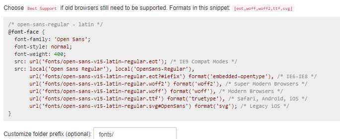 Google Fonts lokal einbinden - CSS Webfonts Helper