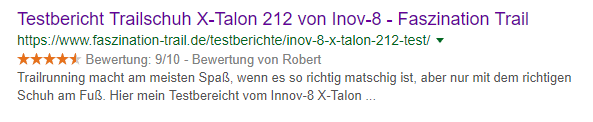 Rich Snippets für Reviews