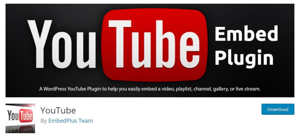 YouTube Embed Plugin